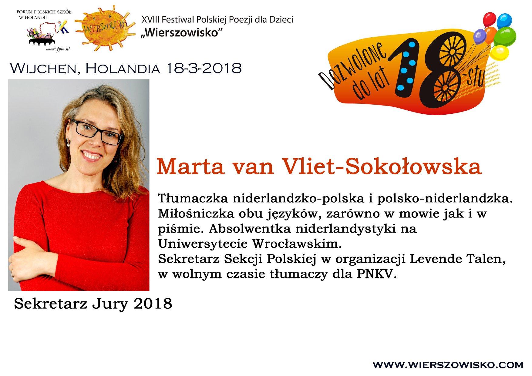 Marta van Vliet-Sokołowska sekretarz