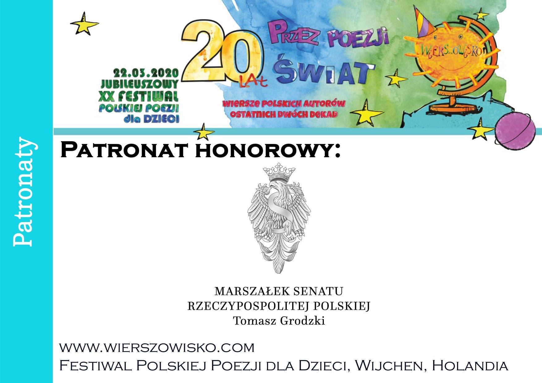 Senat RP patronat honorowy